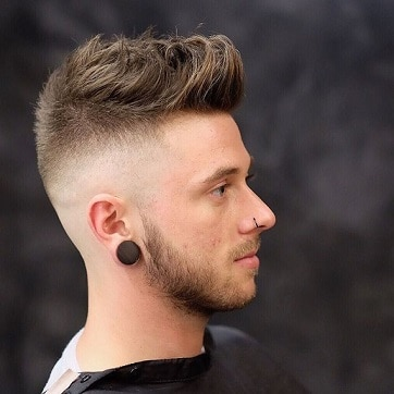 Side shaved men's hairstyles with beard