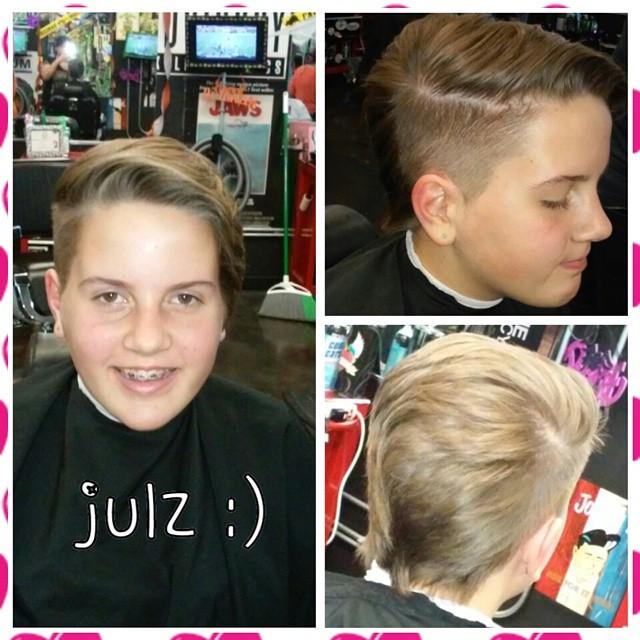 partial fade haircut