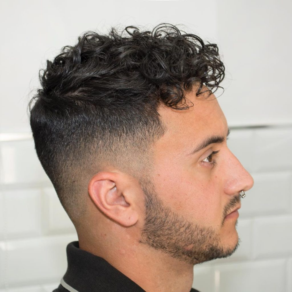 High Fade with Curly Hairstyles
