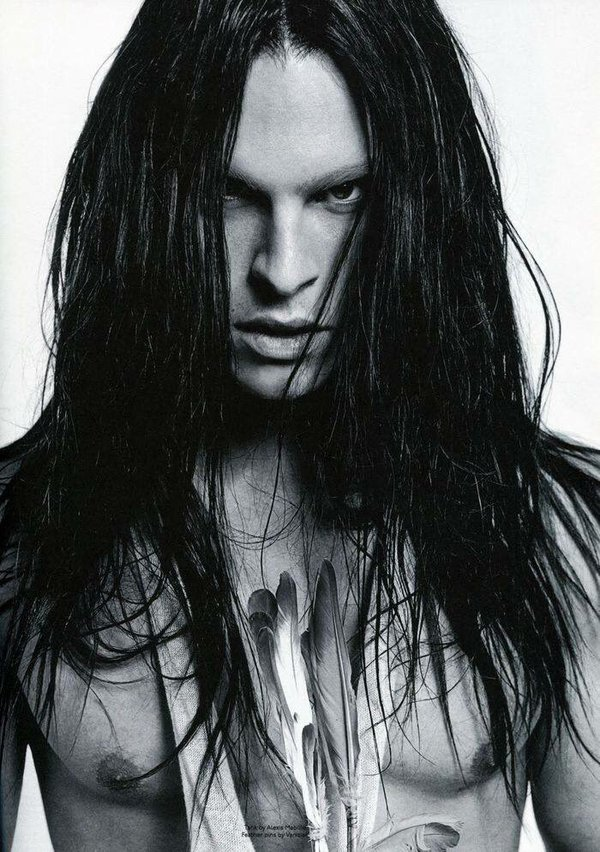 Hairstyles for Men - Long Straight Haircut