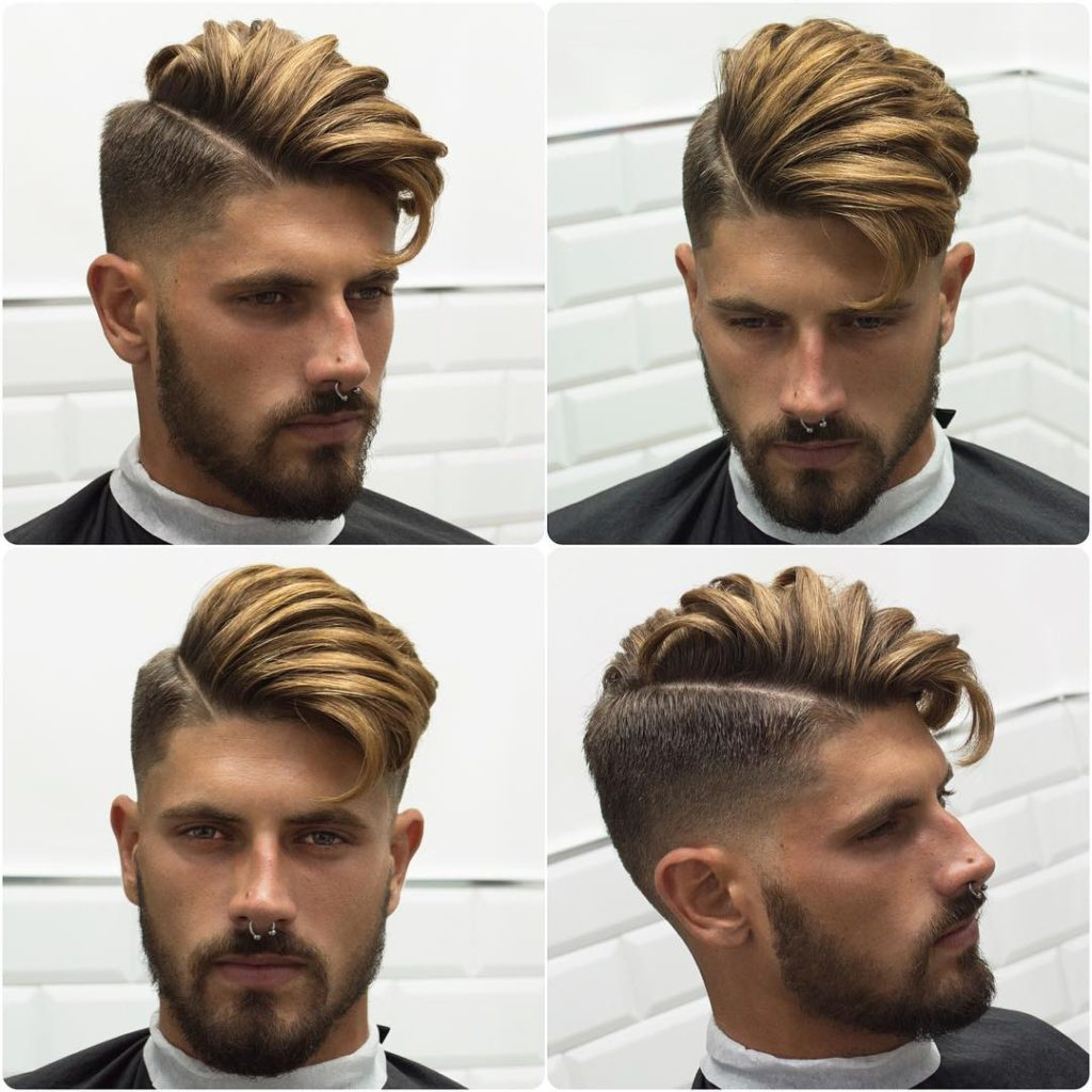 Side Shaved hairstyles with Highlight