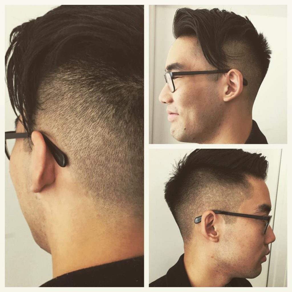Taper Fade + Side Punk Hairstyles