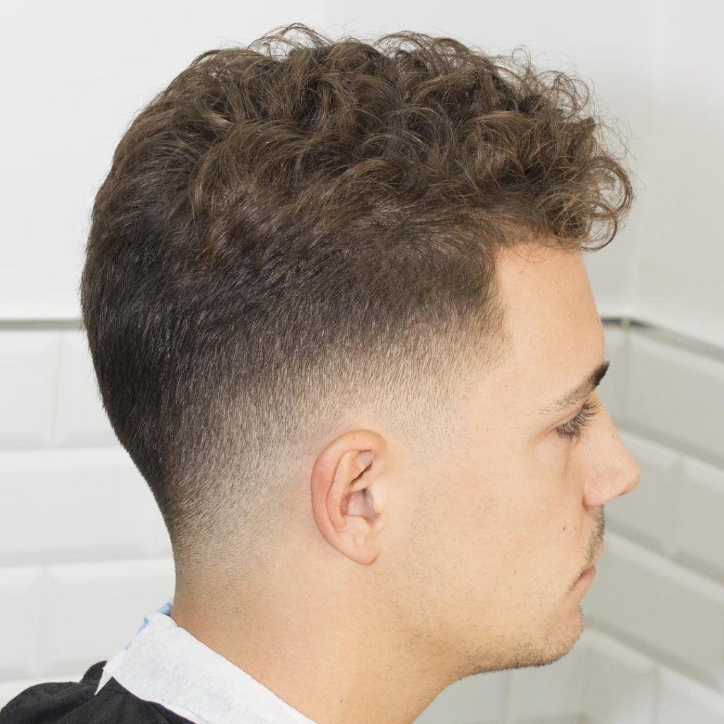 Curly taper Fade