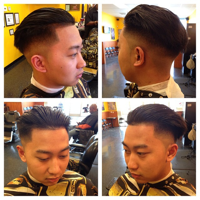 Side Shaved + Comb Over Hairstyles
