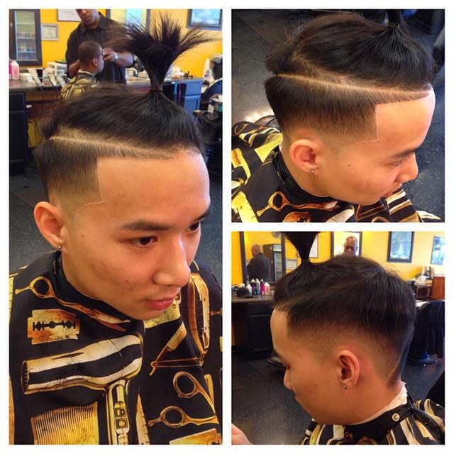 Side Zero Shaved + High Ponytail
