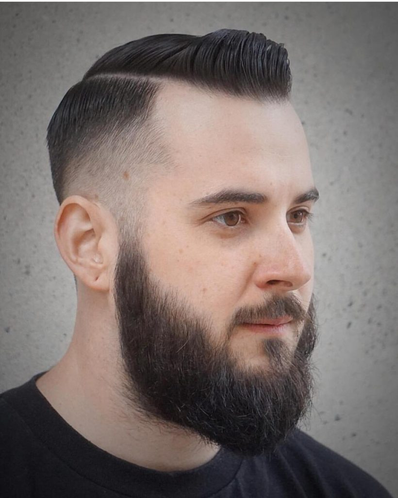 Fade Haircuts + Quiff Design with Beard