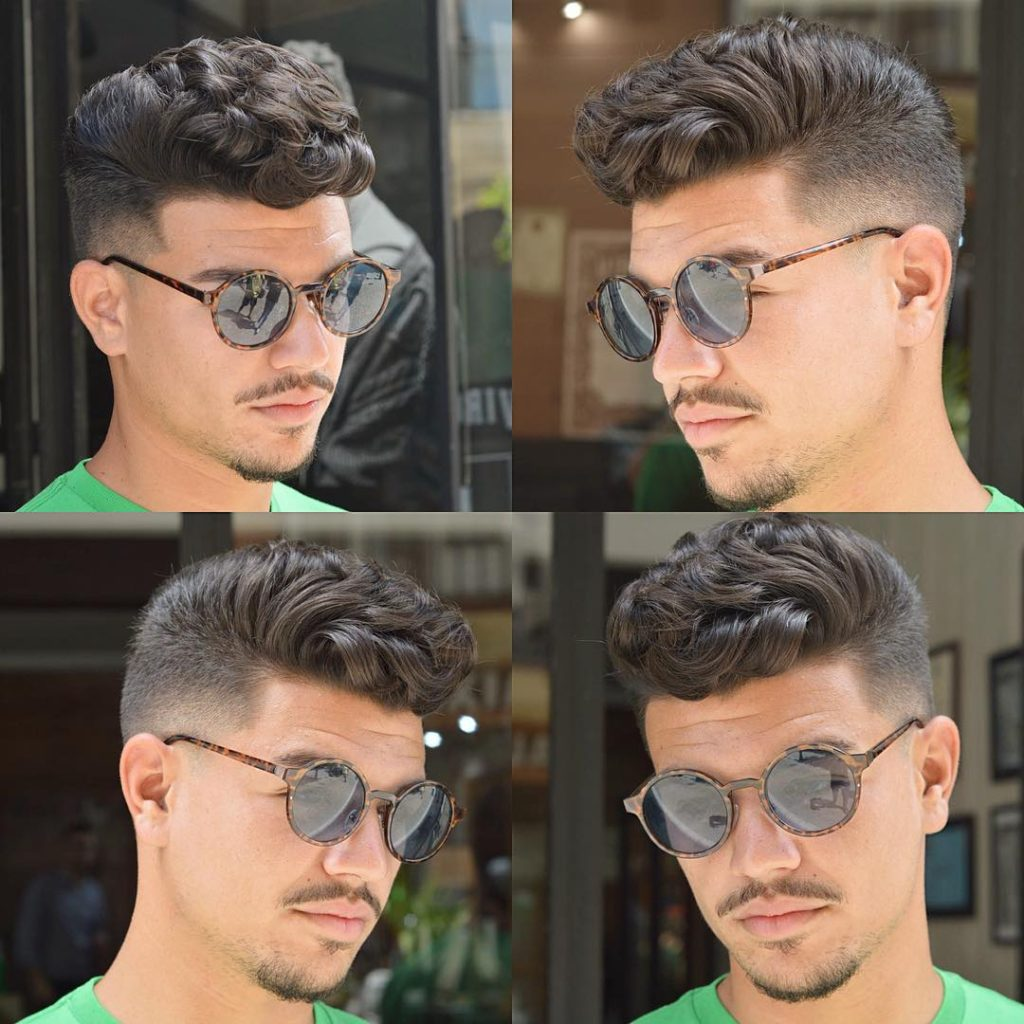 High Fade with Front Curly