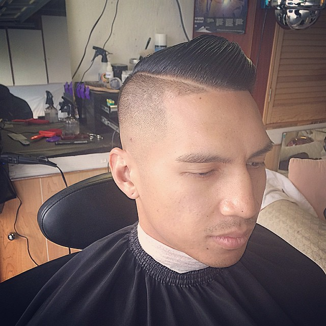 Side Comb Over Hairstyle