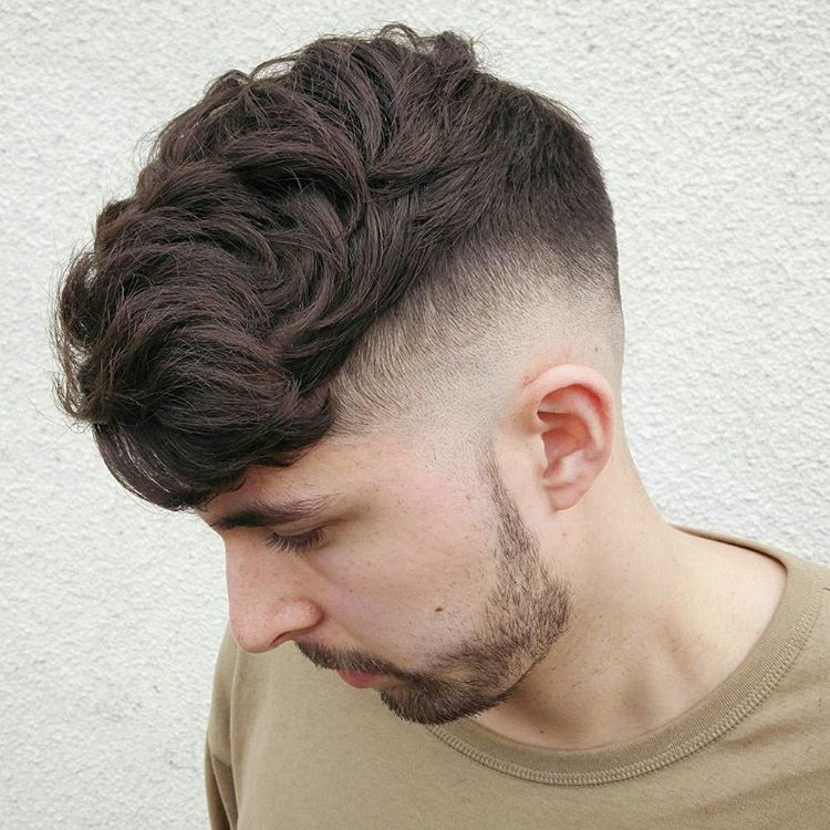 Hairstyles for Men - Diffused Hair with Skin Fade