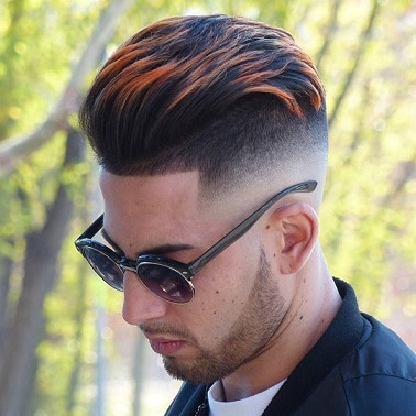 High Pompadour Haircuts with Highlight