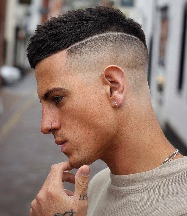 Short fade with design