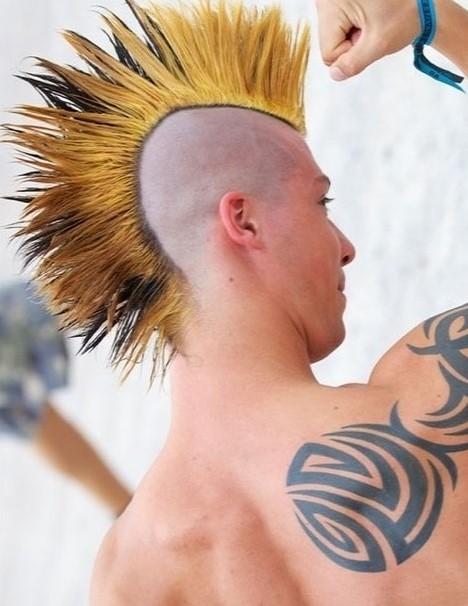 Buzzed Mohawk Style