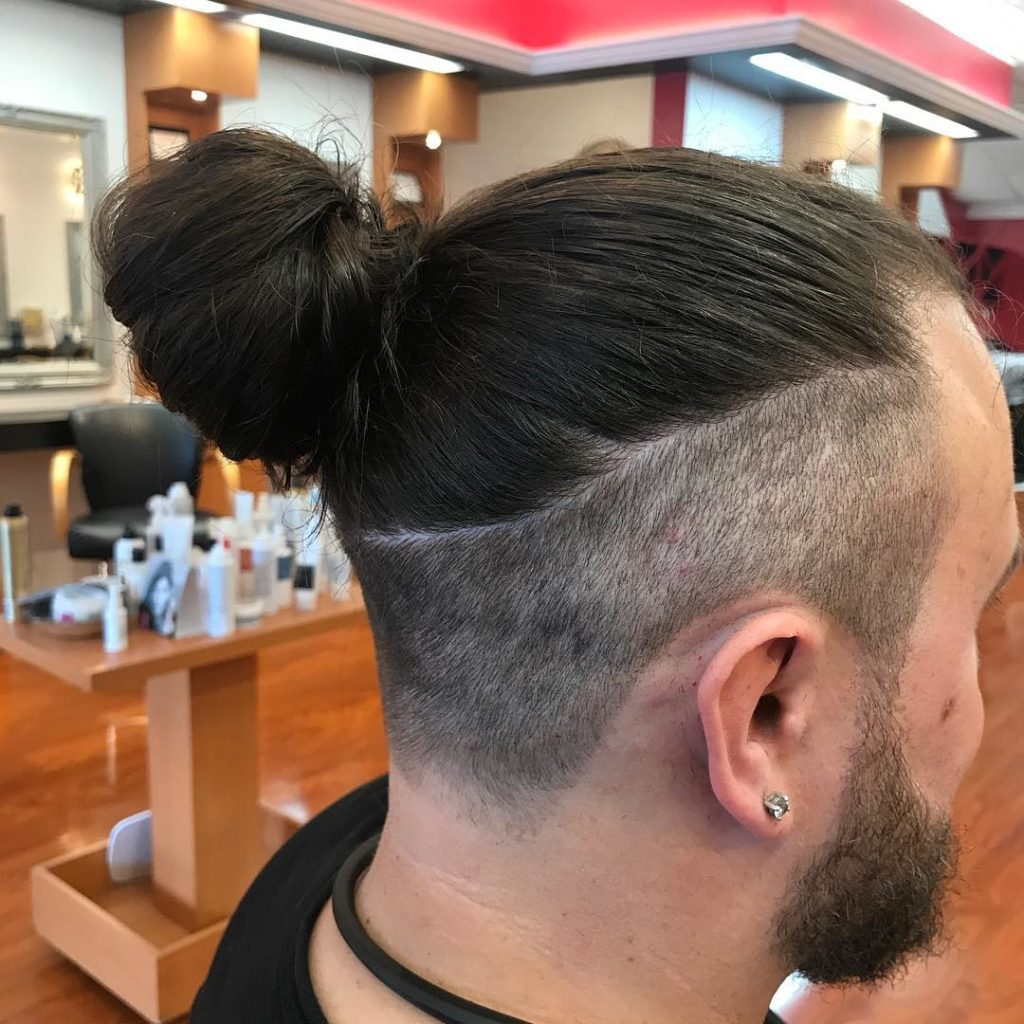 Man-Bun with a taper