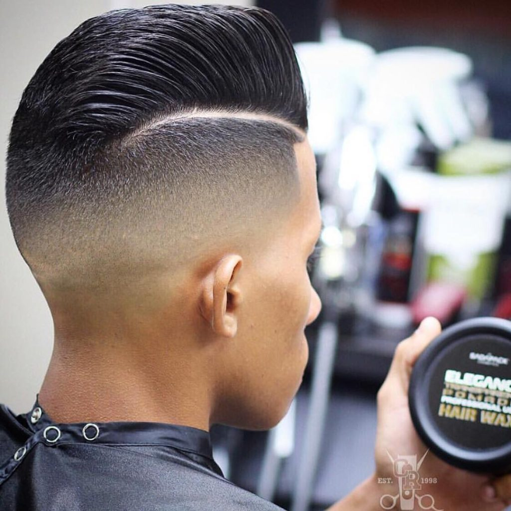 Comb Over Hairstyles - Clean Combover with Mid Fade