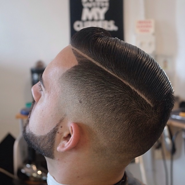 Comb Over Hairstyles - Modern Comb over with Shaved Line