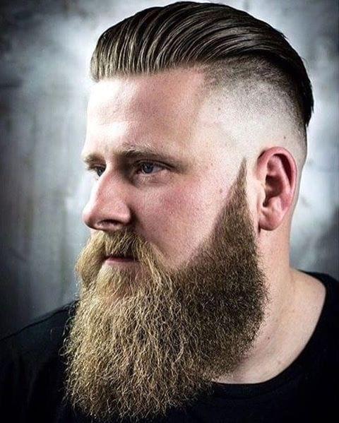 Long Beard and Sleek Mohawk Style