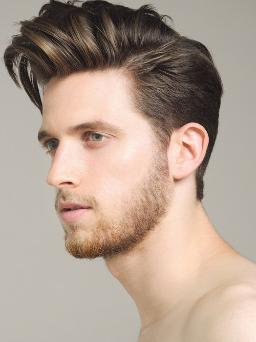 Exceptional The Classic Pompadour. The Slicked Back Style Pompadour For Men With Round  Faces ...