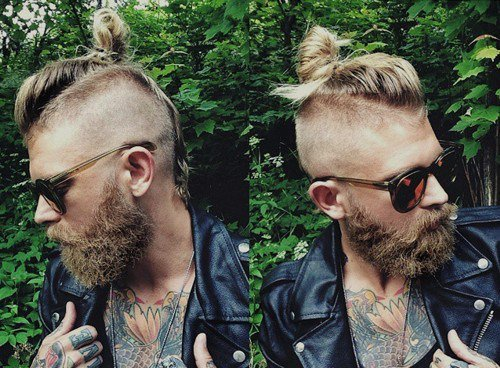 Top Knot with Sides Shaved