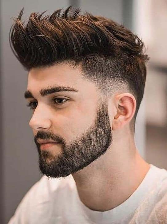 Spiky and Tall Hairstyle