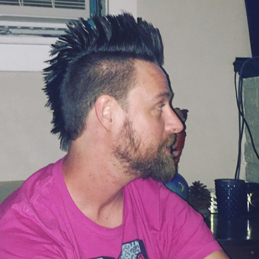 Tape Fade with Long Mohawk Hairstyles