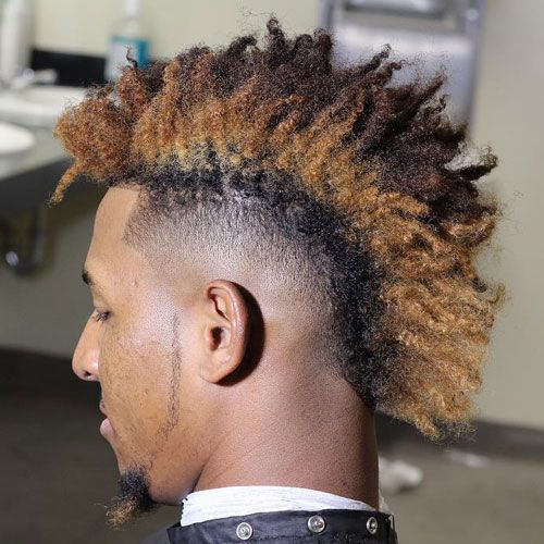 Curly Light Fade Mohawk Style