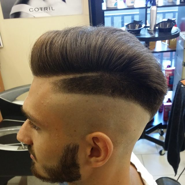 Sharp Skin Fade with Neat Combover