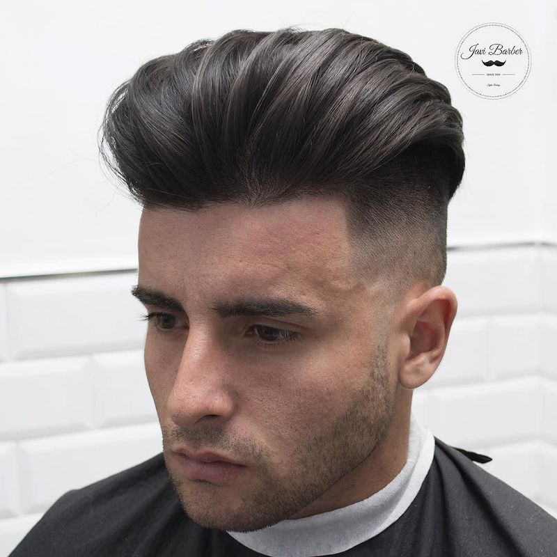 Comb Over Hairstyles - Combover Hairstyle with Shaved Sides