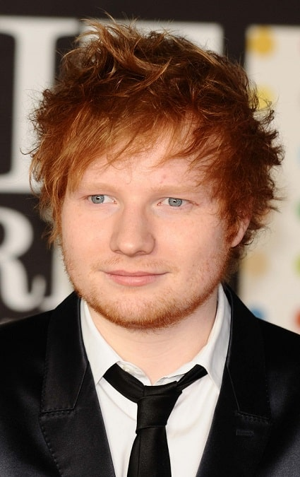 Celebrity Ginger Messy Hairstyle