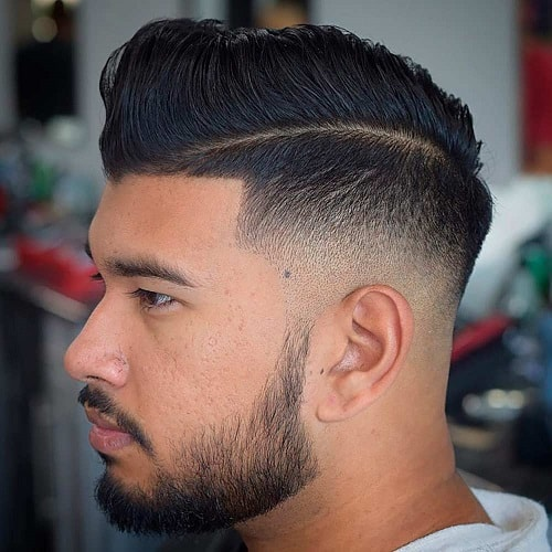 Comb over Hairstyle with Deep Parting