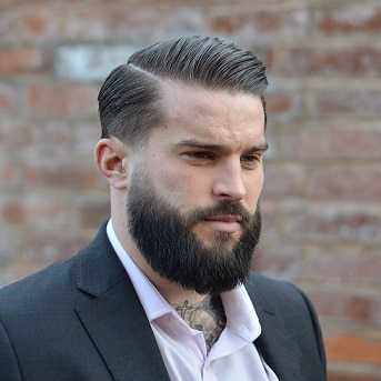 Faded Comb over with Beard