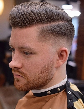 Hard Part Fade Comb Over Hairstyle