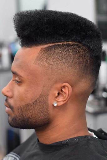 Pompadour with Strips