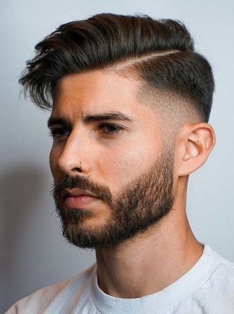 Side Part Sculpted and Sexy Hairstyle