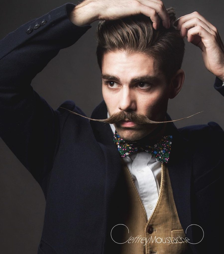 English moustache style