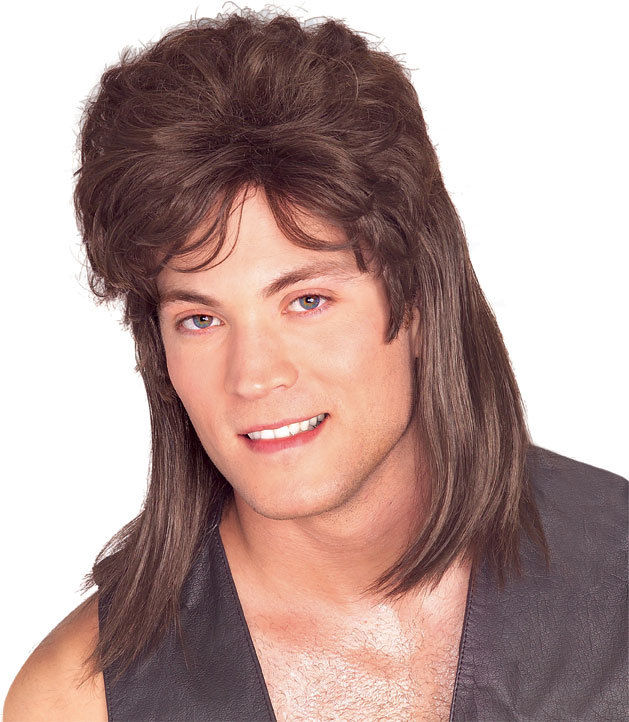 Men with mullet in 80s
