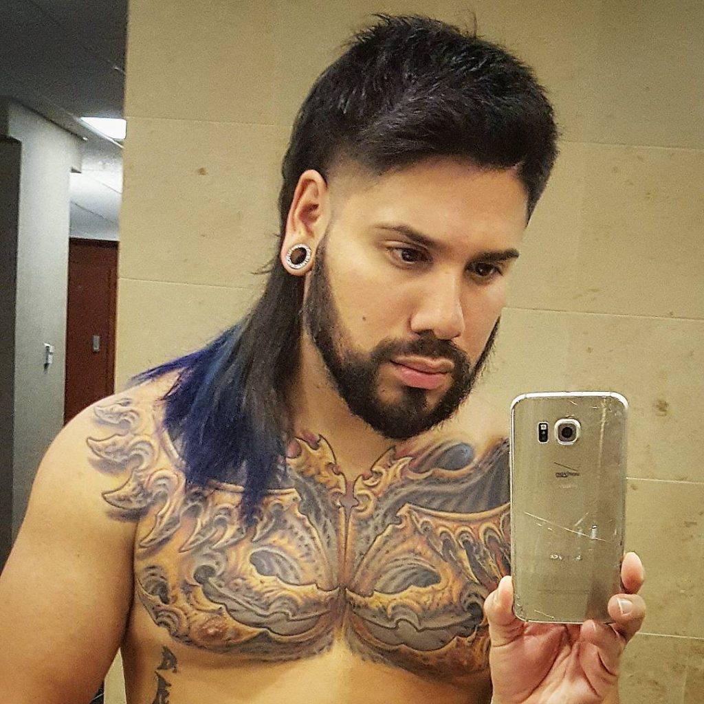 Long hair Mullet