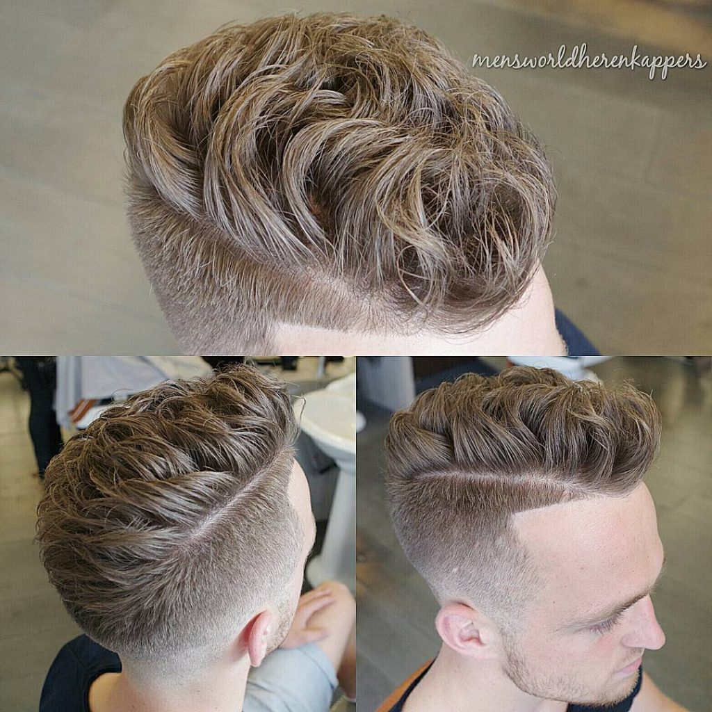 The flipped side with neat parting