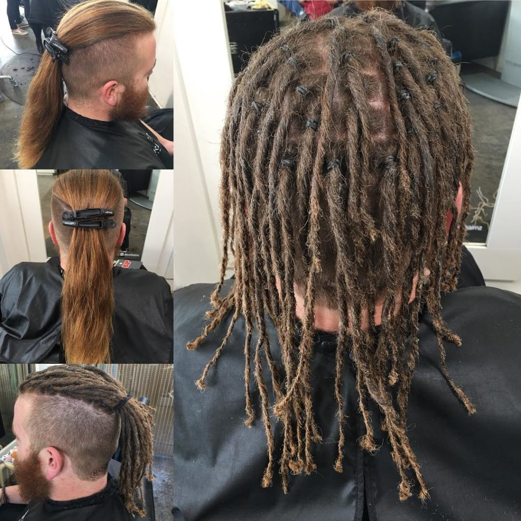 Long hairstyles for Black Men - Under Cut Dread Lock Look