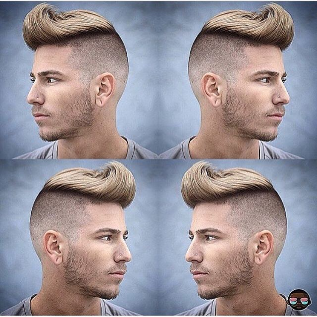 Slick Back Hairstyle with Shaved Sides