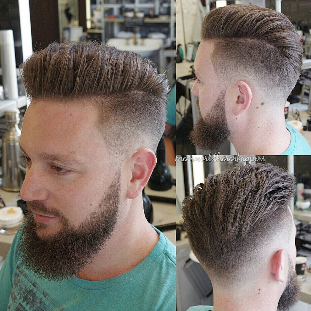 Solid and Structured Parting Hairstyle