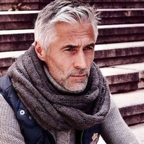 old men hair styles haircuts 35 best hairstyles for 50 8398 | 18 Pompadour Fade with Beard