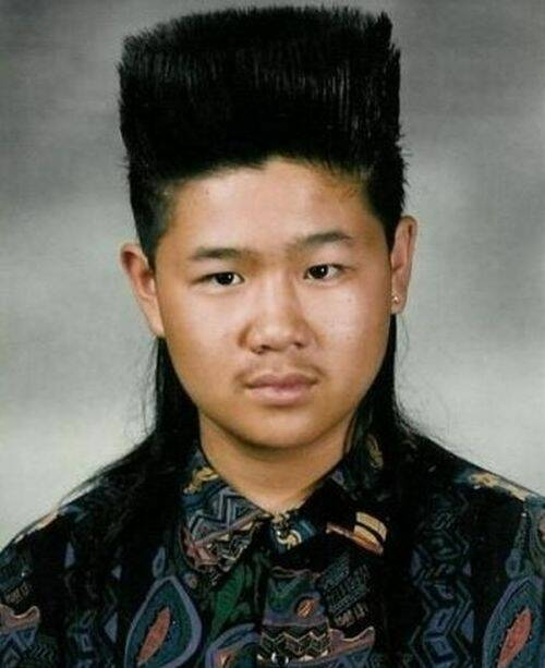 High top with mullet