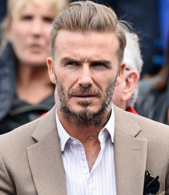 Ruffled slick Back Hairstyle for Old Men