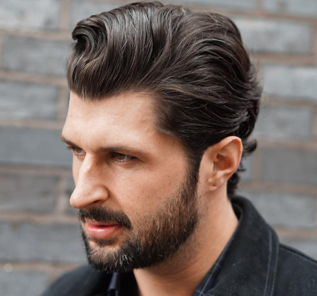 #23: Medium Slick Back Wavy Haircuts