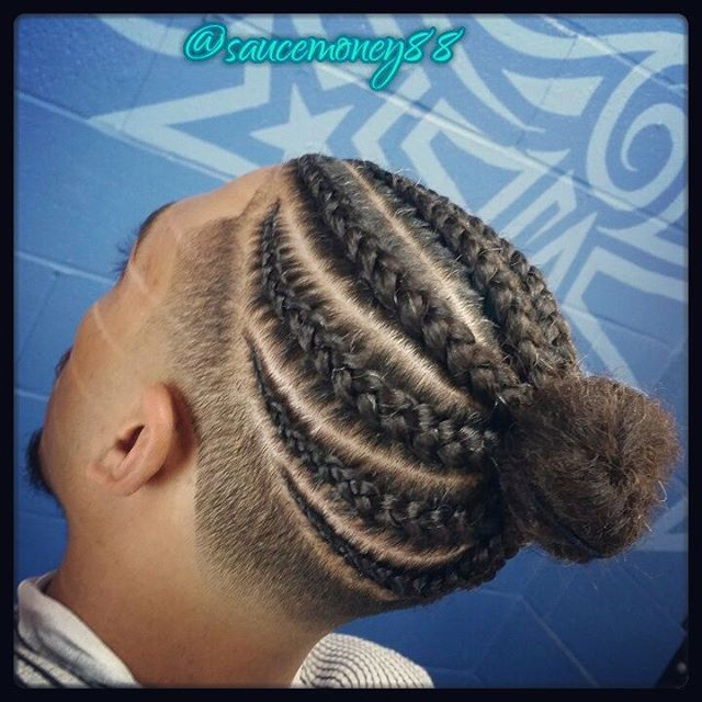 Box Braids with Fade - Best Black Men Long Hairstyles