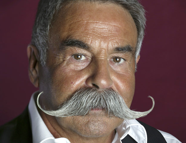 Imperial moustache style