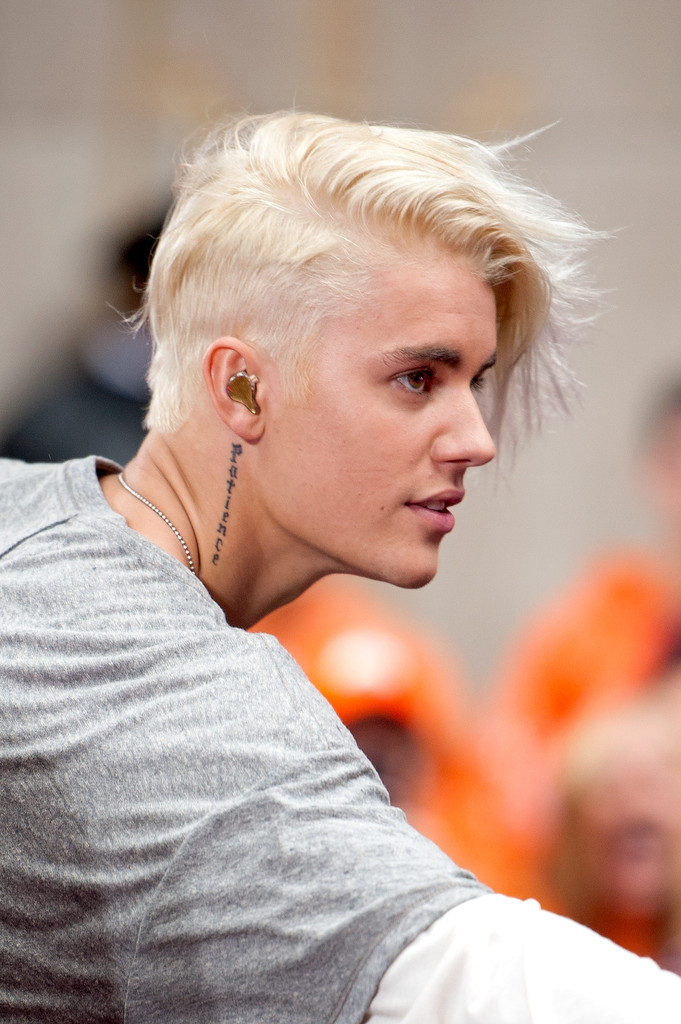 Medium Length Side Swept Blonde