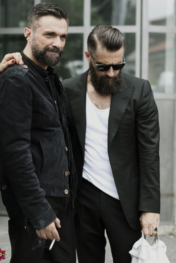 Slicked Back with Beard Combo