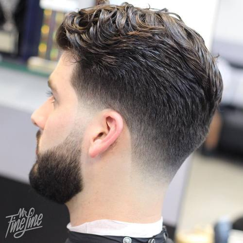 Fade Hipster for Wavy Hair