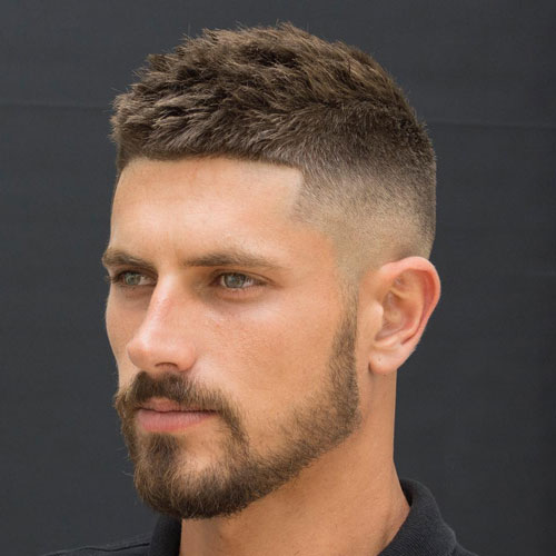 Crew cut hairstyles 15 stylish crew cuts for men how to style 7 slightly spiked crew cut urmus Image collections